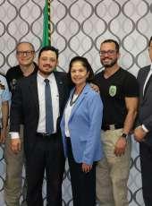Representantes da Segurança Pública visitam Controladora Geral de Disciplina